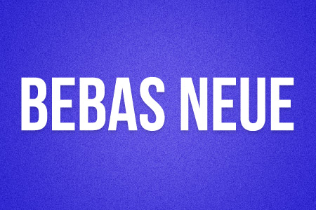 Download the Bebas Neue font