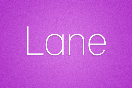 Download the Lane font