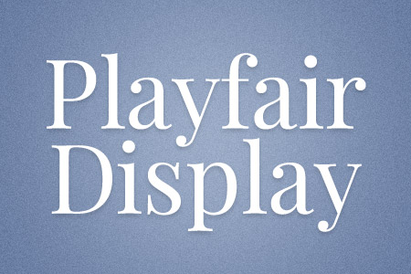 Download the Playfair Display font