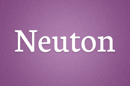 Download the Neuton font
