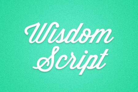 Download the Wisdom Script font