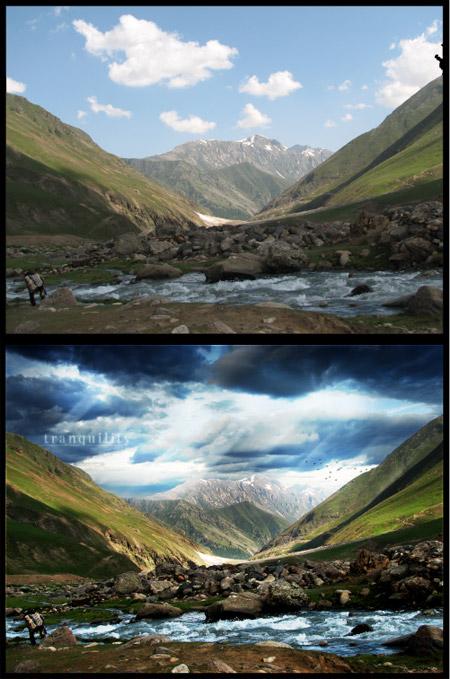 Landscape photo editing