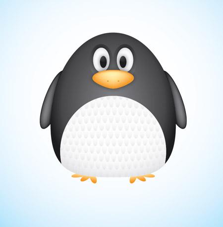 Vector Penguin character