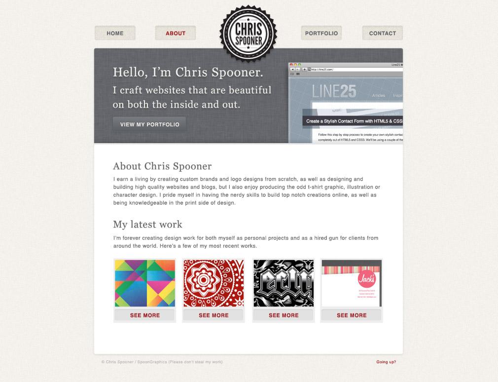 How to build a stylish portfolio web design concept for Building design website