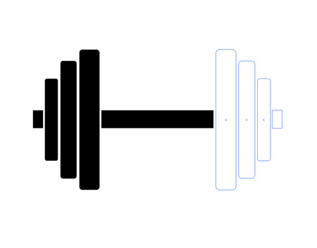 Dumbbell Icon Vector a simple dumbbell icon
