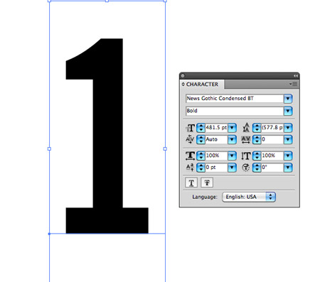 Typographic Layout In Illustrator To Make Use Of The Vector Abilities Maintain Crisp Edges On Our Text Elements Type Out Number One A Font