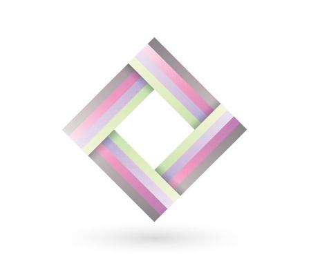 Ribbon style logo