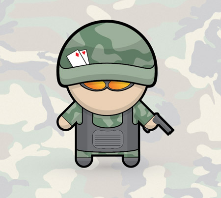 Vector soldier character