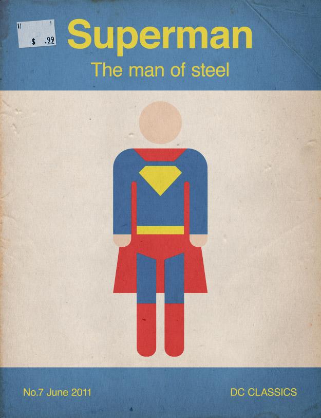 Book Cover Design Basics : How to create a retro style superman book cover