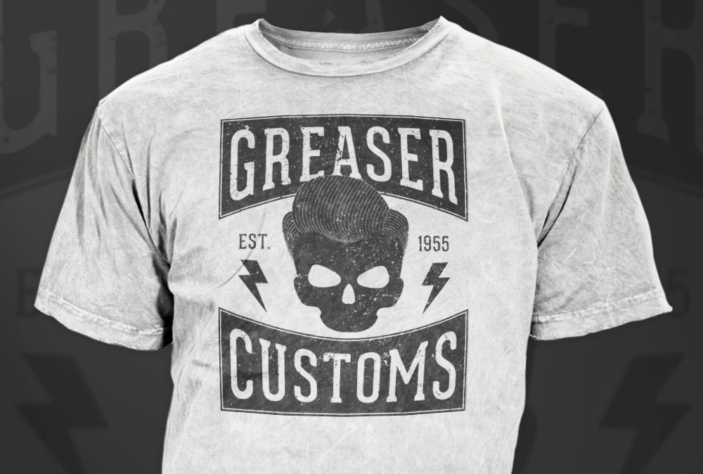 How to create a vintage style greaser t shirt design for How to copyright at shirt design