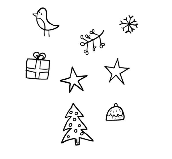 For your pattern it s christmas so i m drawing various holiday