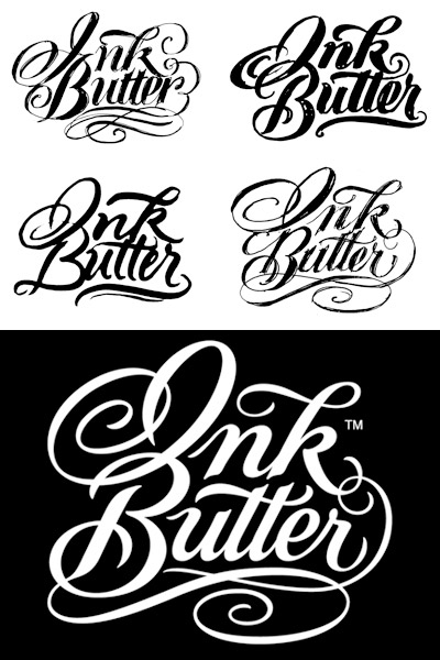 View the custom lettering logo