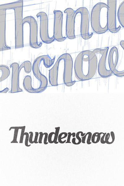 View the custom lettering logo