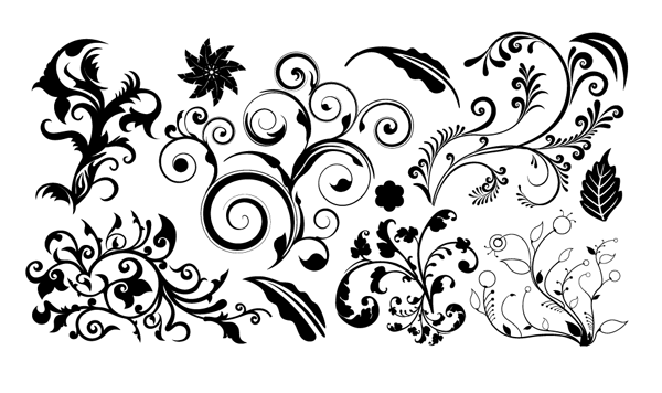 Vector Floral Png Black Design Pictures Www Picturesboss Com