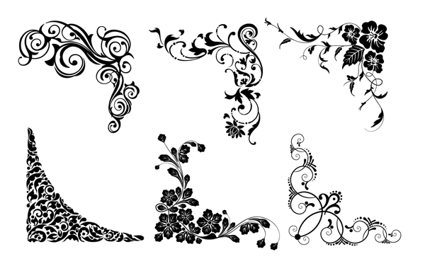 Roundup Of Free Vintage Ornament Amp Floral Vectors