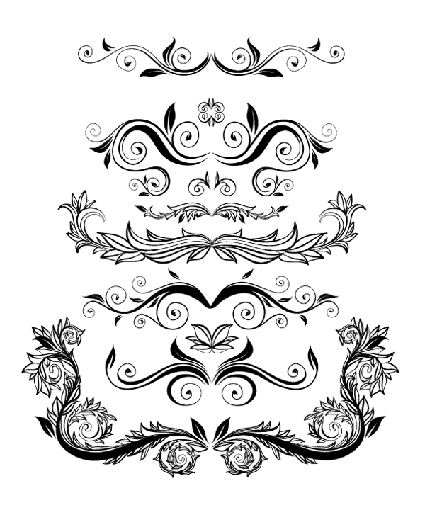 Roundup of free vintage ornament floral vectors download the vector file junglespirit Images