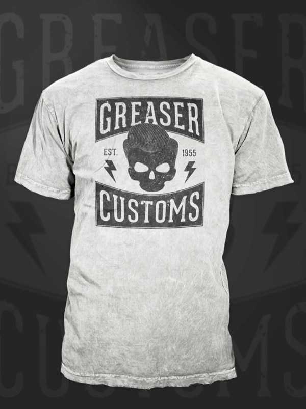 Final Greaser Customs logo design