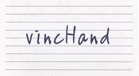 VincHand font