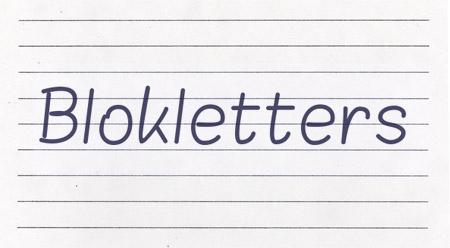 Blokletters font