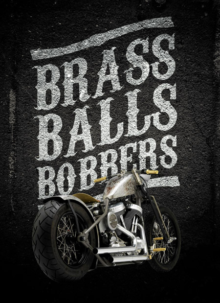 Bobber motorcycle poster