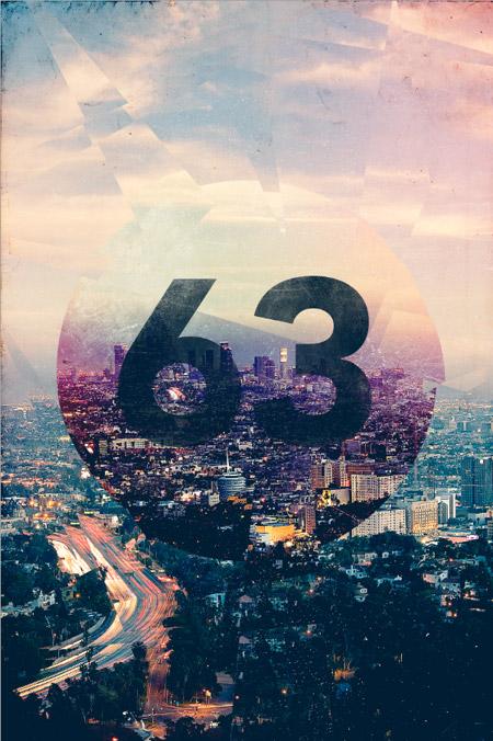 Retro cityscape poster design
