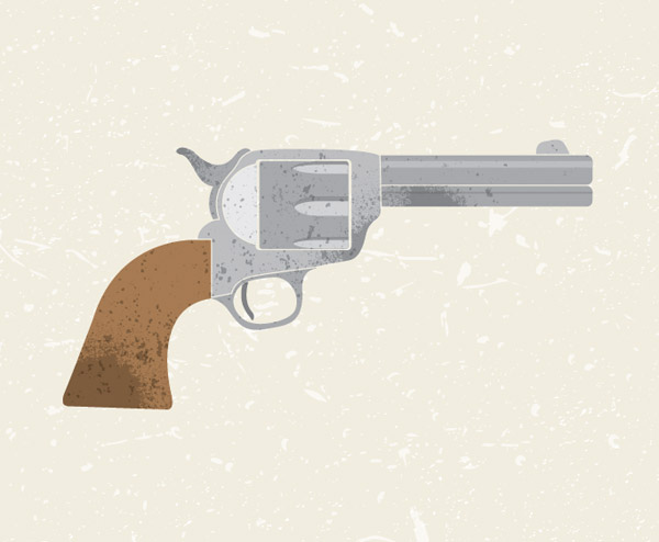 Vector Revolver illustration