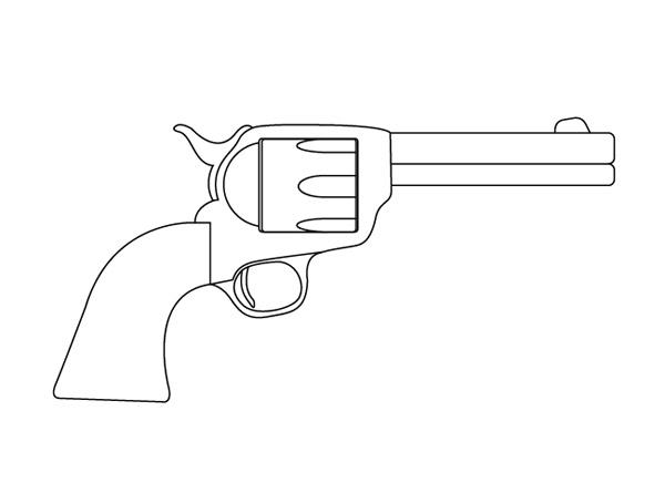 Cartoon Tattoo Gun Design