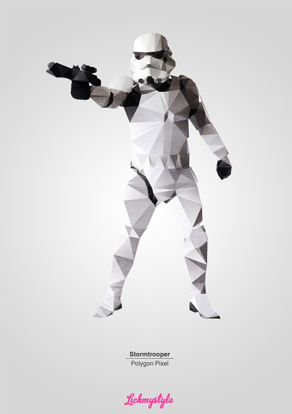 Stormtrooper Polygon Pixel by Matthew Reilly
