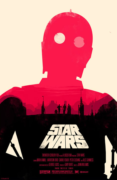 Star Wars Poster by Olly Moss