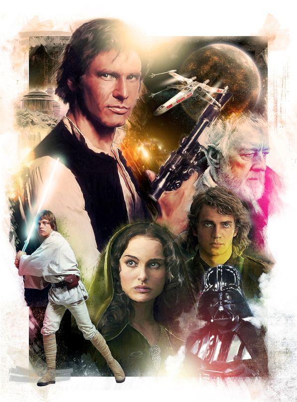 Star Wars Illustration by Richard Davies