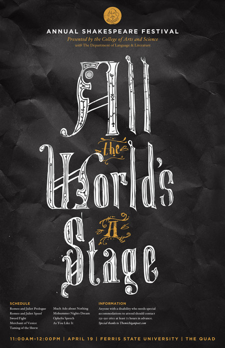 View the typography poster design
