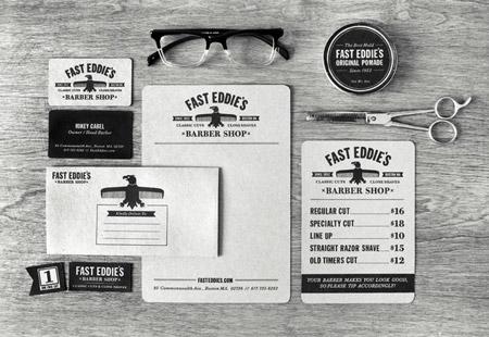 Fast Eddie's Barber Shop by Richie Stewart