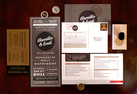 Remilla & Emil Wedding Paper Goods by Remilla Ty