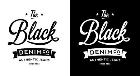 Black Denim vintage logo
