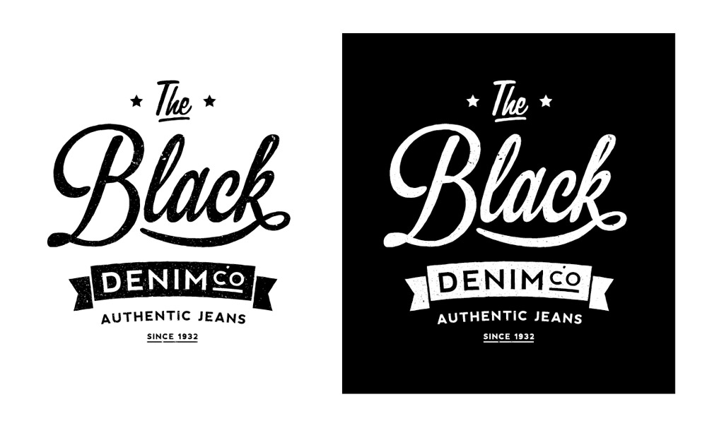 Create an aged vintage style logo design in illustrator