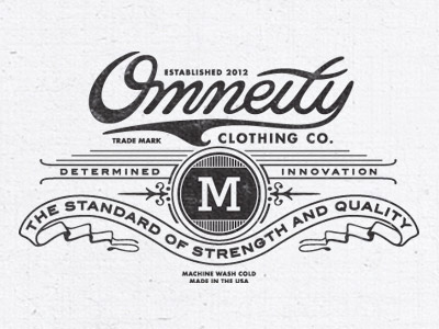 Omneity Clothing by Steve Wolf Vintage Logo