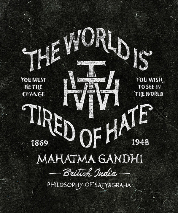 The World is Tired of Hate by BMD Design