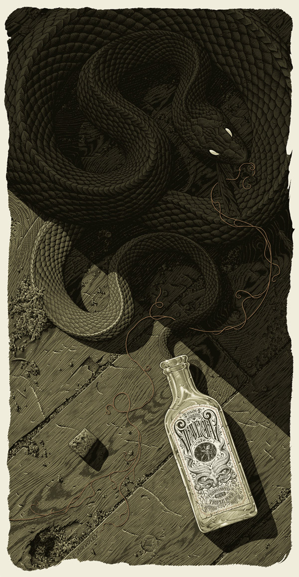 Graveyard Poster by Aaron Horkey