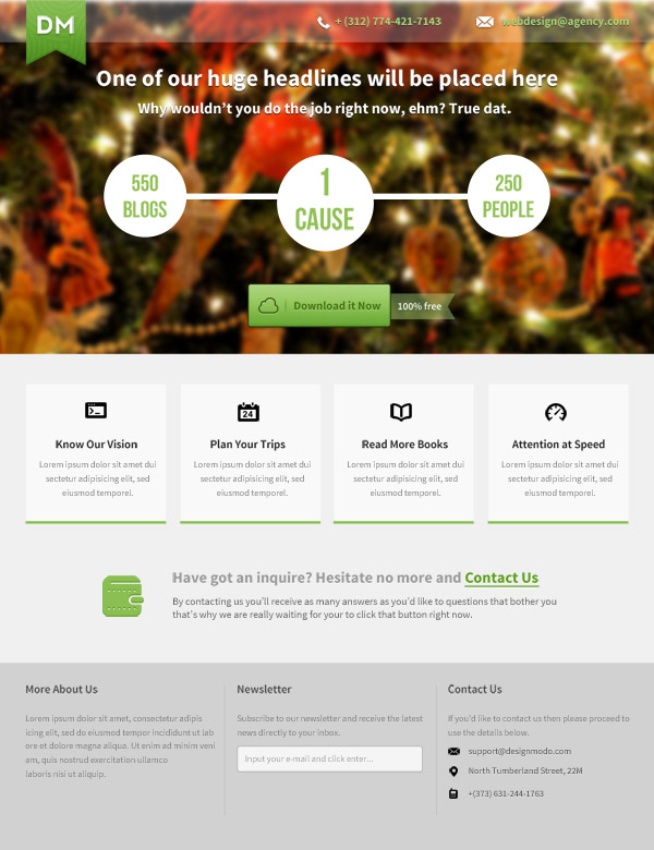 How to Make a Beautiful Landing Page with Photoshop