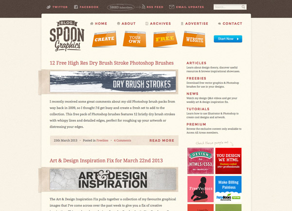 Blog.SpoonGraphics 2013