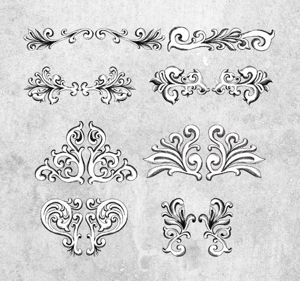 Vintage vector elements