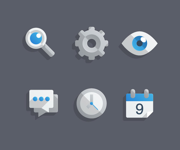 "Create a Set of ""Almost Flat"" Modern Icons in Adobe Illustrator"