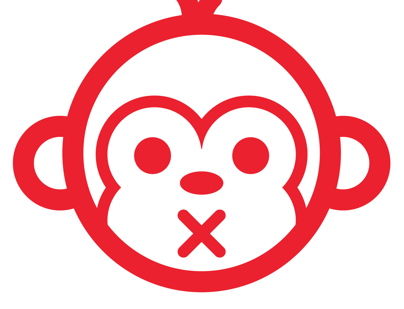 how to create a monkey face with vector line work