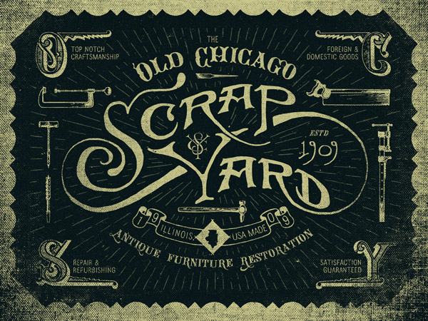 Old Chicago Scrapyard by Adam Trageser
