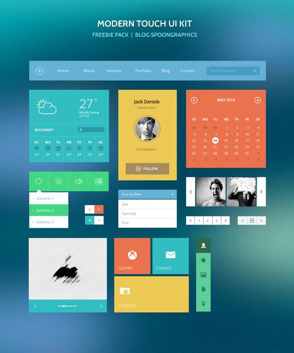 PixelKit Modern Touch UI Kit