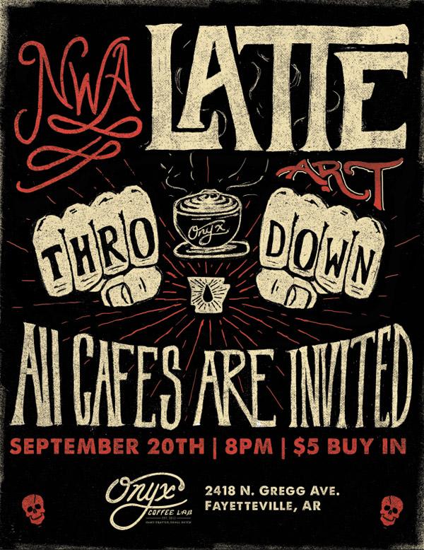 NWA Latte Thro' Down by Jeremy Teff