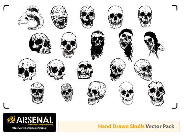 Go Media Skull Vectors