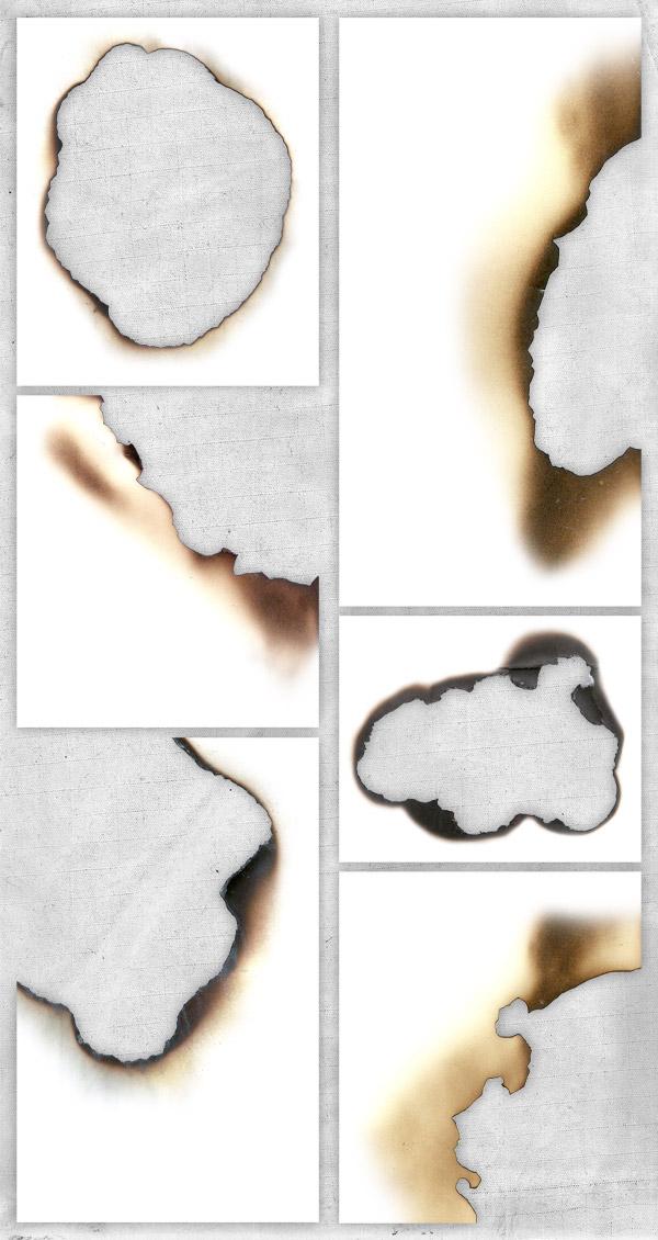 Burnt paper textures