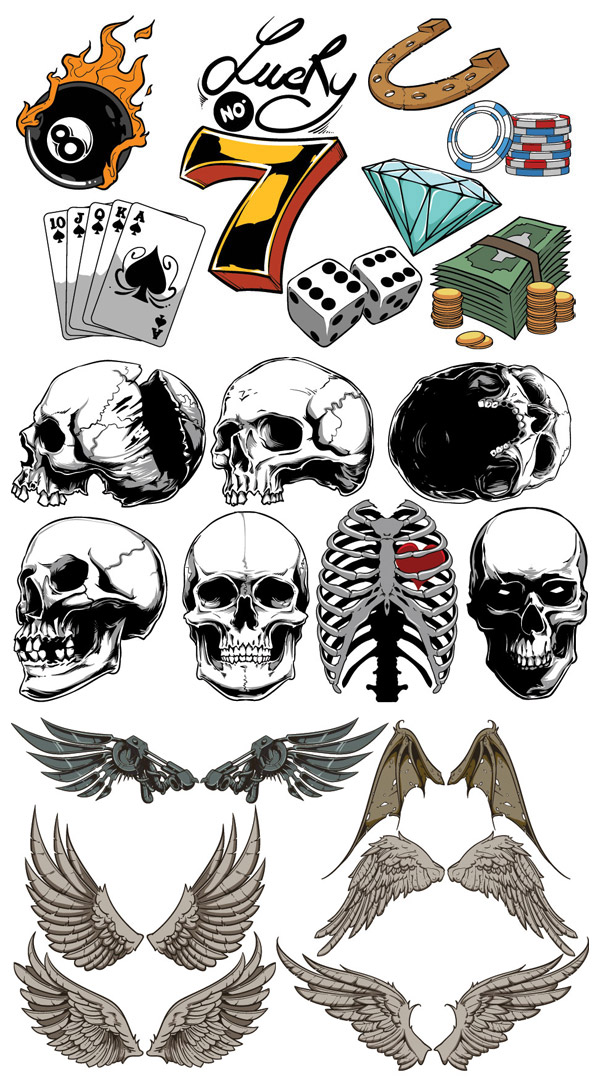 Design Cuts vector pack preview