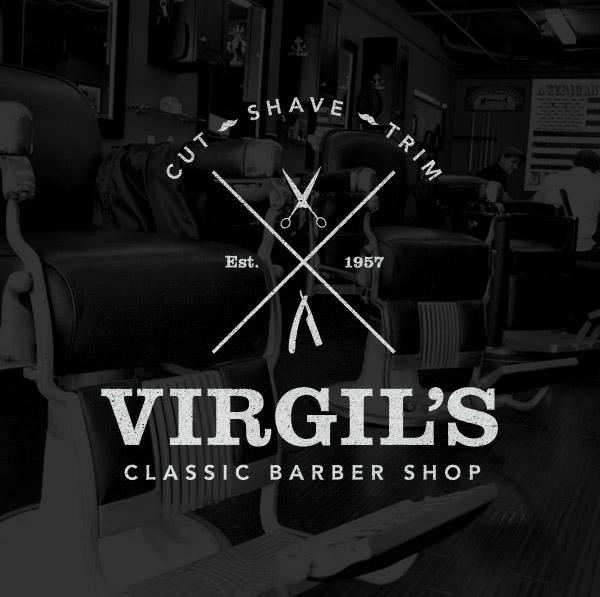 Vintage style barber shop logo